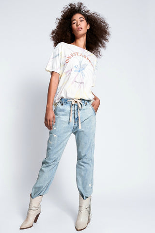 ONETEASPOON TIE DYE BOWER BIRD BOYFRIEND TEE