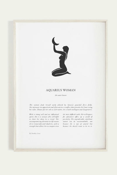 SUNDAY LANE ZODIAC PRINT AQUARIUS