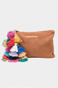 THE WOLF GANG SUEDE BEDOUIN CLUTCH TERRACOTTA