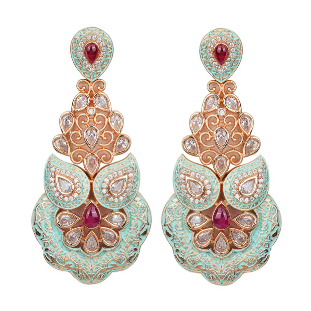 Palace Gem Earrings - Design # 7040