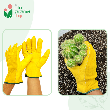 Heavy Duty GARDEN GLOVES - Unisex Cowhide Leather Material
