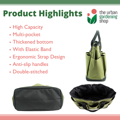 GARDENING TOTE BAG - Stylish and Durable (FREE P50 GIFT VOUCHER URBAGIFT5)