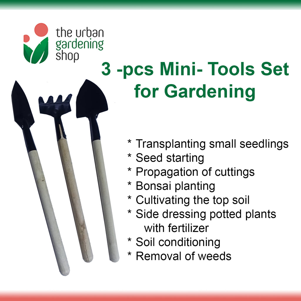 3-pieces MINI GARDENING TOOLS