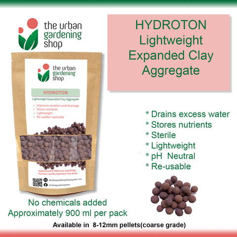 HYDROTON -  Lightweight Expanded Clay Aggregate  for Hydroponics and Soil Amendment