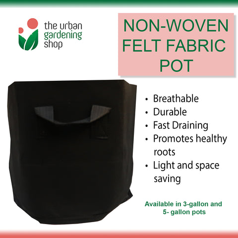 BREATHABLE POTS  High Quality Fast Draining Grow Bags Made of Durable Non-woven Fabric