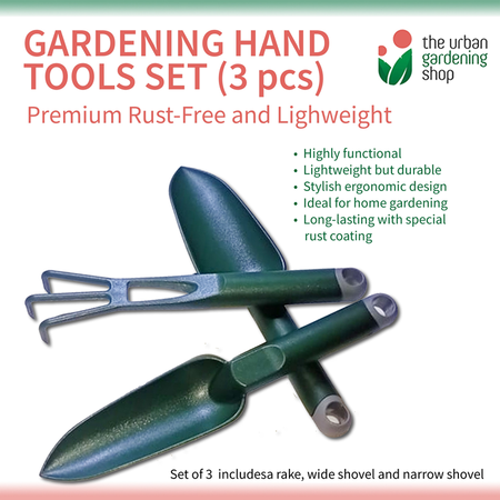 (3-pcs Green) PREMIUM HAND TOOLS 3pcs- Set for Gardening Purposes