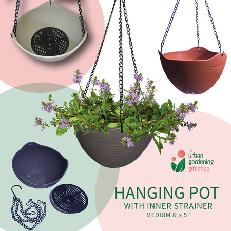 HANGING PLANT POTS   - Stylish, Heavy Duty and High Quality for Indoor and Outdoor  Use