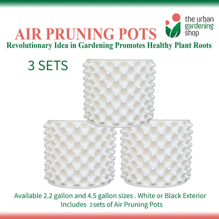 (Bundle of 3 sets)  AIR PRUNING POTS  A Revolutionary Idea in Container Gardening