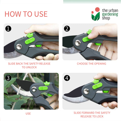 PREMIUM PRUNING SHEARS FOR GARDENING USE- High Quality, Durable and Effortless Pruning
