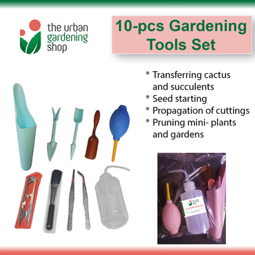 10-Pcs GARDENING TOOLS SET  for Propagating Cactus and Succulents and Starting New Seeds