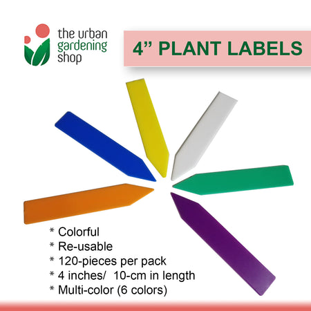 "120-pieces COLORFUL 4"" PLANT LABELS"