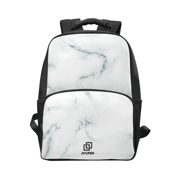 White Marble BackPack - Ayuper