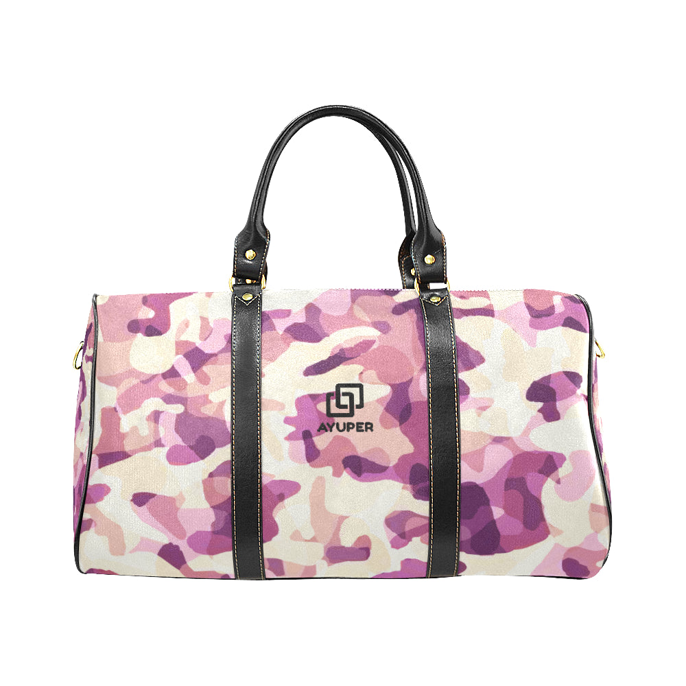 Hot Pink Camouflage Waterproof Travel Bag - Ayuper