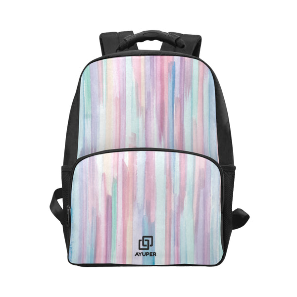 Vertical Colourful Shapes BackPack - Ayuper