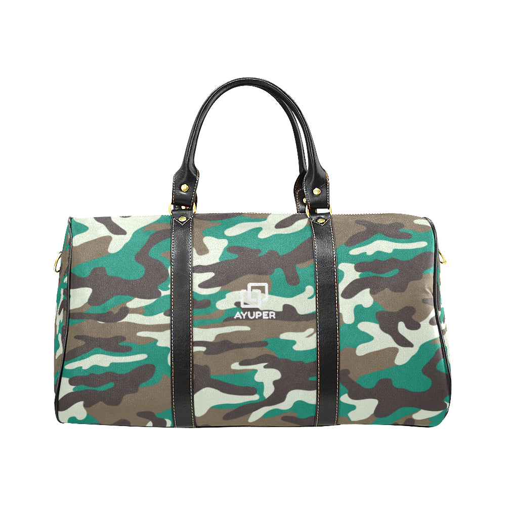 Green Camouflage Waterproof Travel Bag - Ayuper