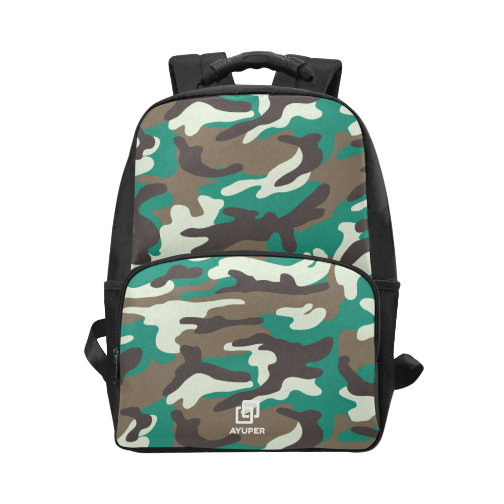 Green Camouflage BackPack - Ayuper