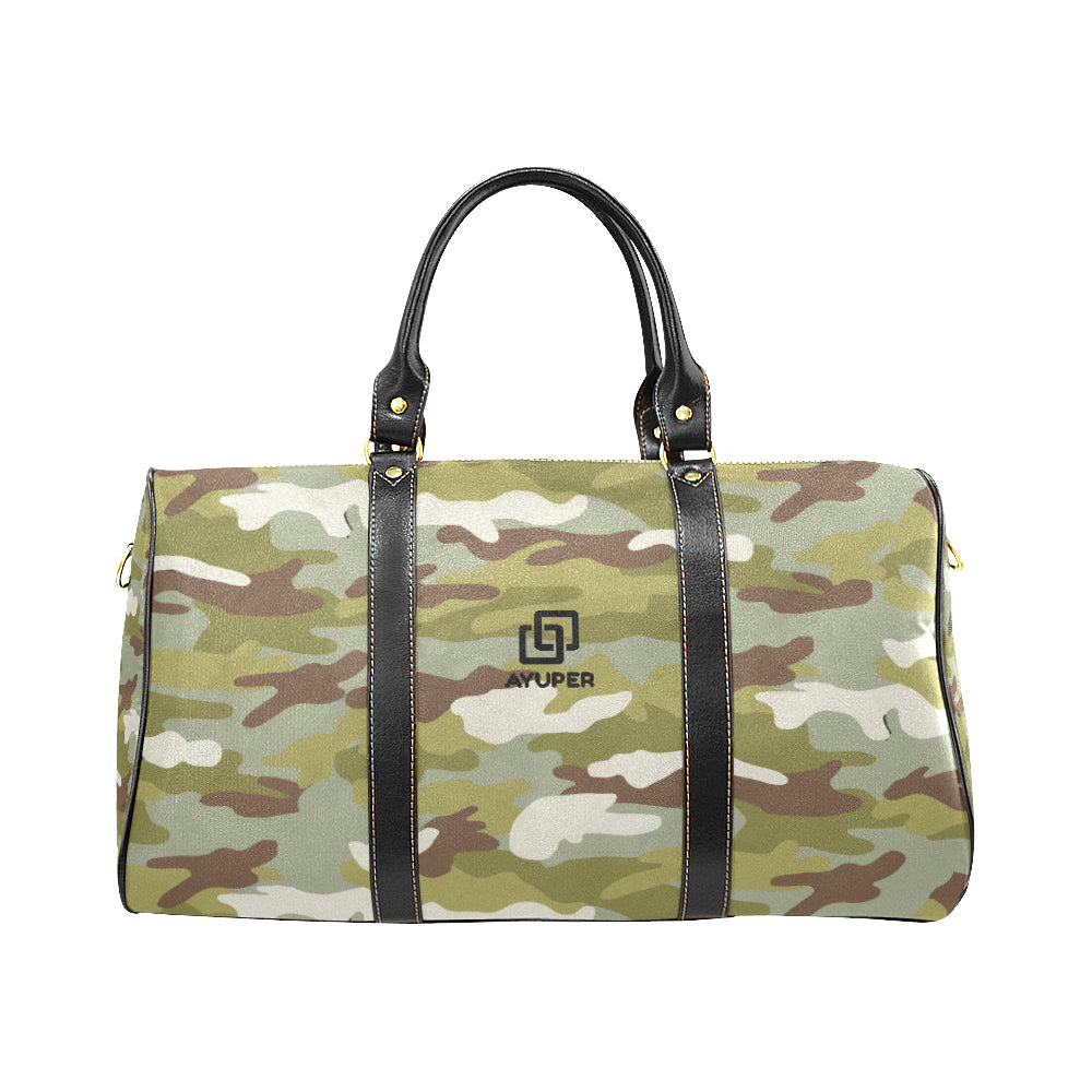 Olive Camouflage Waterproof Travel Bag - Ayuper