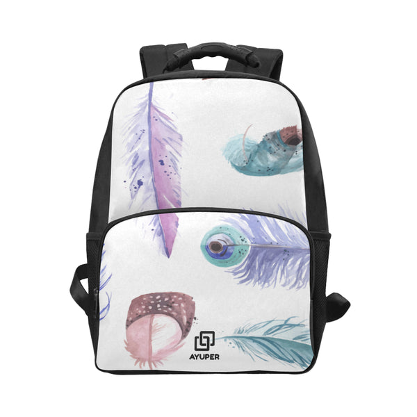 BackPack de penas em aquarela - Ayuper