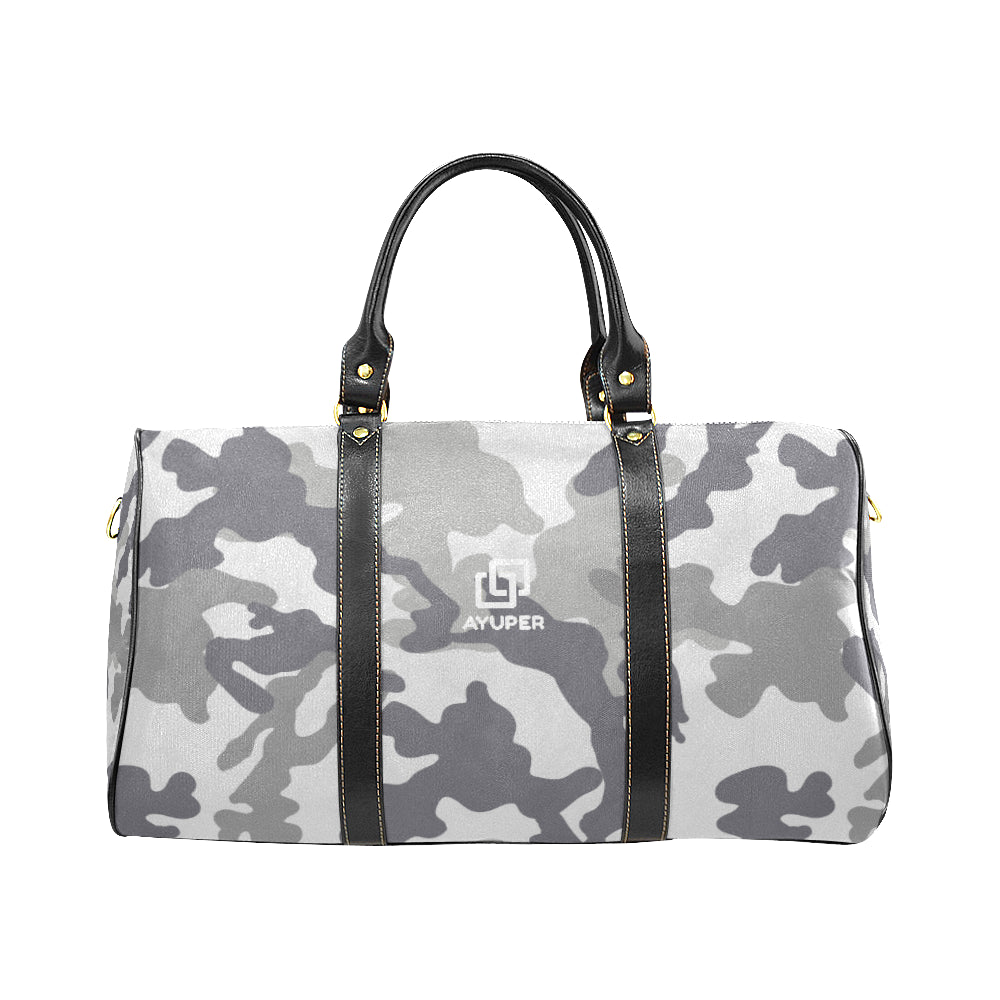 Grey Camouflage Waterproof Travel Bag - Ayuper