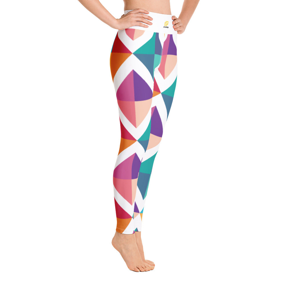4716cf407a Colourful Diamond Squares Yoga Leggings - Ayuper
