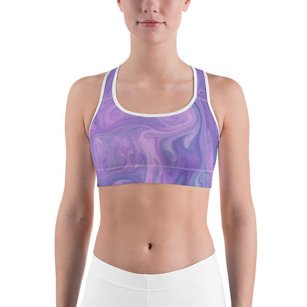 Pink Lavender Liquified Sports Bra - Ayuper