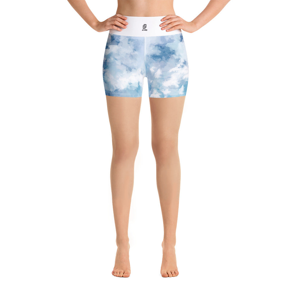 Blue Light Yoga Shorts - Ayuper