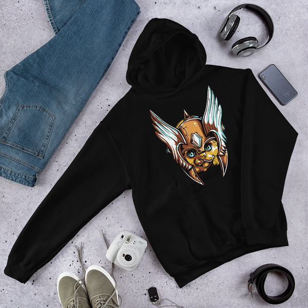 Warrior Cat Hooded Sweatshirt - Ayuper