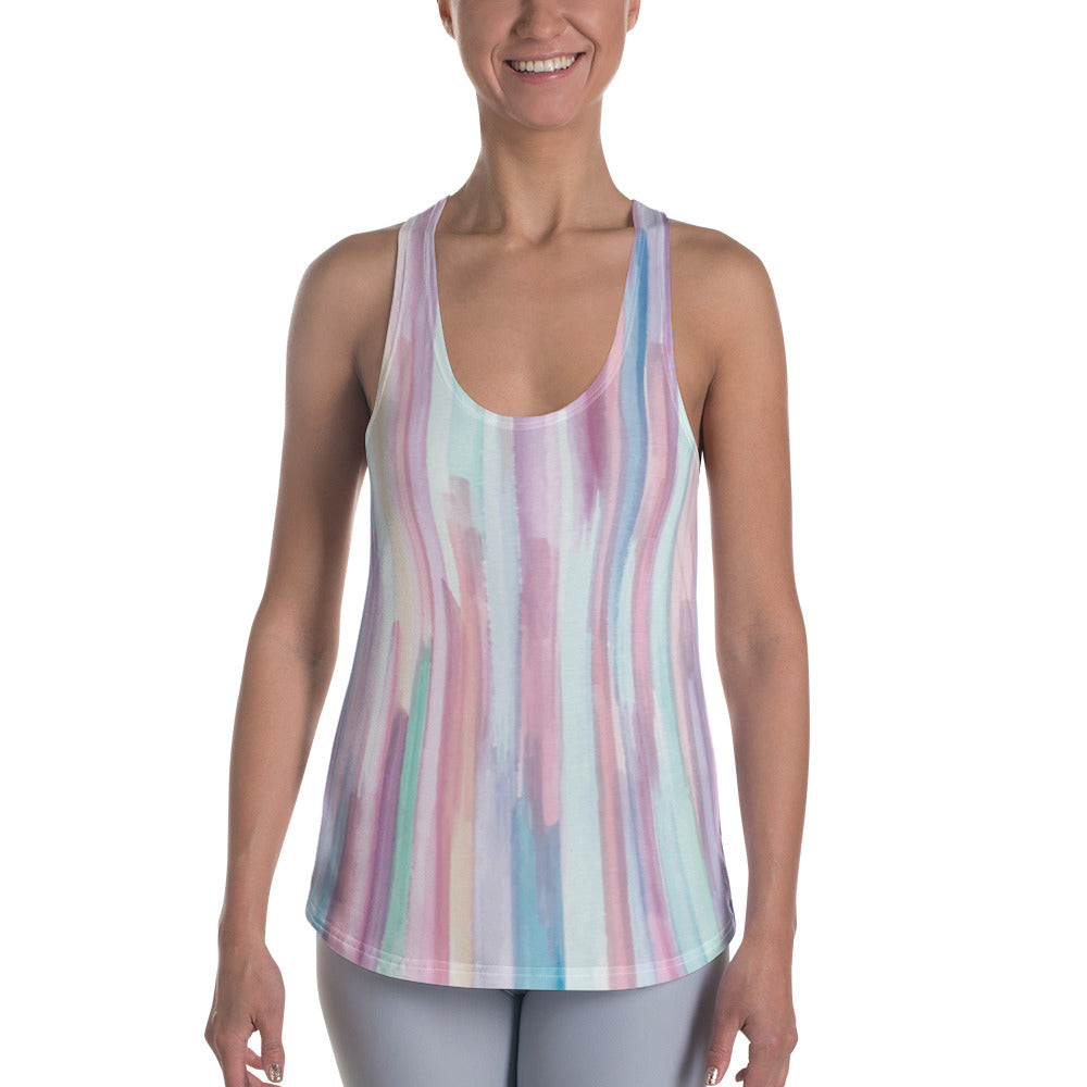 a6d80d9d9f Colourful Vertical Abstract Stripes Women's Racerback Tank - Ayuper
