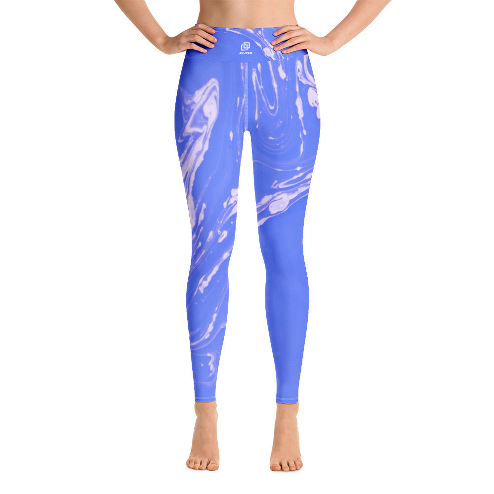 09760b98a8 Blueish Marble Yoga Leggings - Ayuper