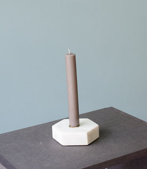 Candle Holder Leif - hexagon - white
