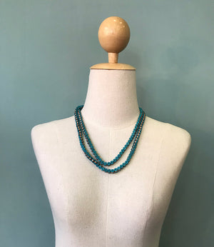 Necklace Emma - petrol blue
