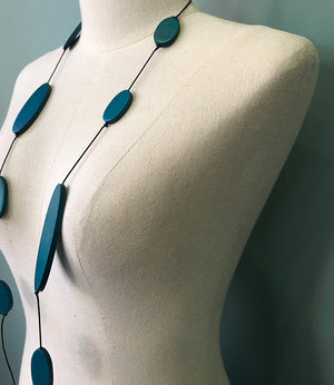 Necklace Grace - petrol blue