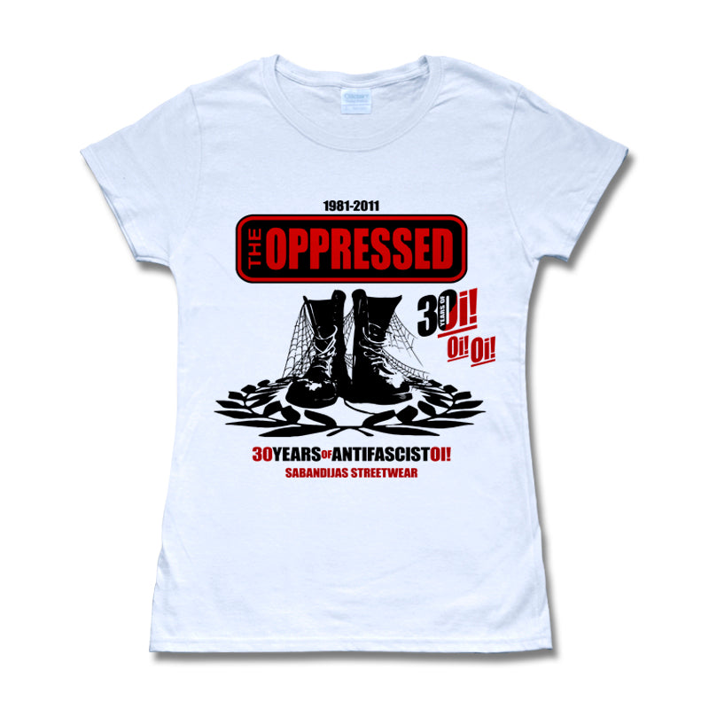 Camiseta manga corta mujer THE OPPRESSED 30 years of