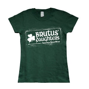 Camiseta manga corta mujer BRUTUS DAUGHTERS logo graffiti