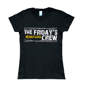 Camiseta manga corta mujer THE FRIDAY'S CREW hemen gara