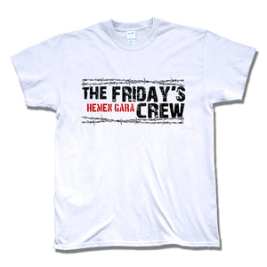 Camiseta manga corta hombre THE FRIDAY'S CREW hemen gara en blanco