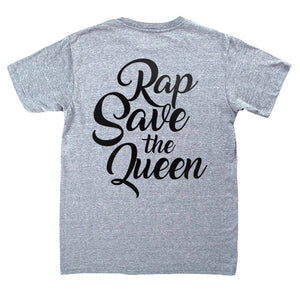 Camiseta gris manga corta hombre IRA rap save the queen