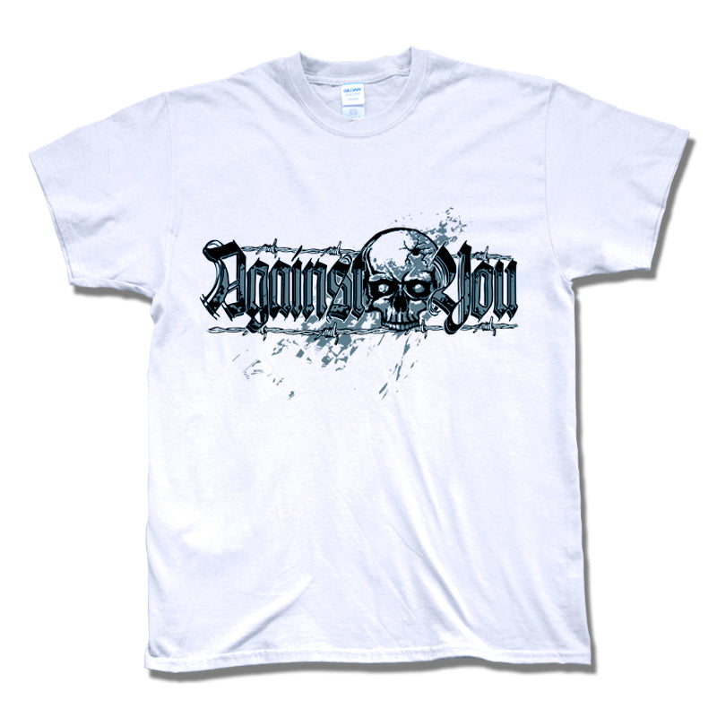 Camiseta manga corta hombre AGAINST YOU calavera blanca