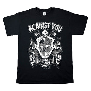 Camiseta manga corta hombre AGAINST YOU escudo metralletas