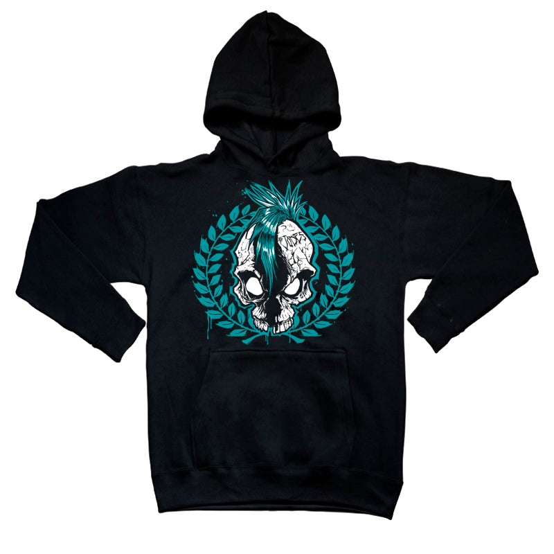 Sudadera capucha THE JODES Calavera laurel