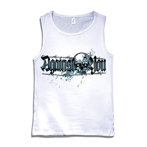 Camiseta tirantes hombre AGAINST YOU calavera blanca