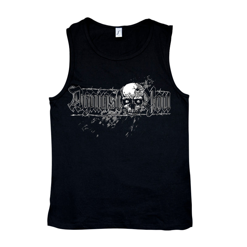 Camiseta tirantes hombre AGAINST YOU calavera negra