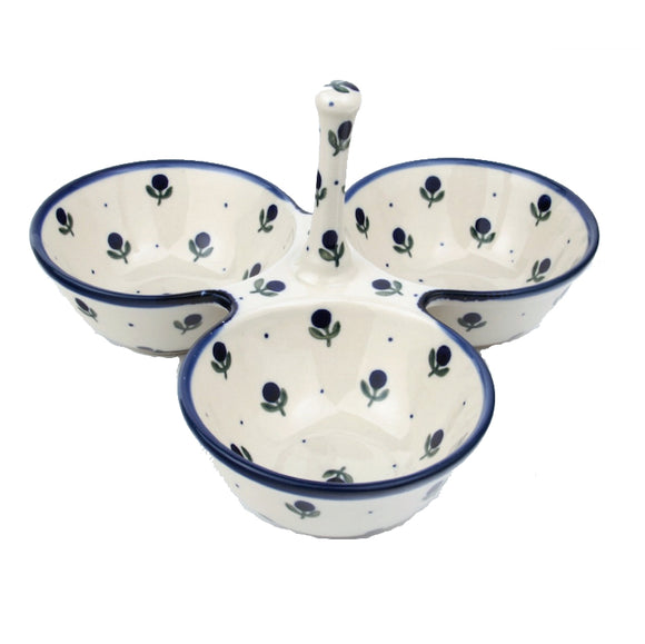 B34 Triple Condiment Bowl