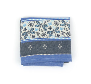 Tea Towel - Dragonfly Dark Blue