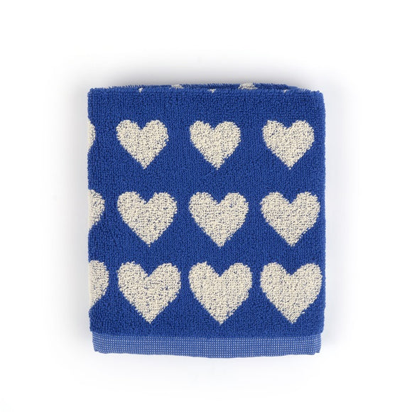Kitchen Towel - Hearts Royal Blue
