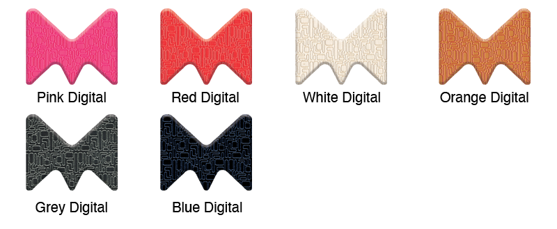 Material Swatches for each Digital style Mi-Pod Device