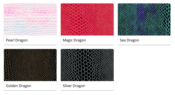 Material Swatches for each Dragon style Mi-Pod Device