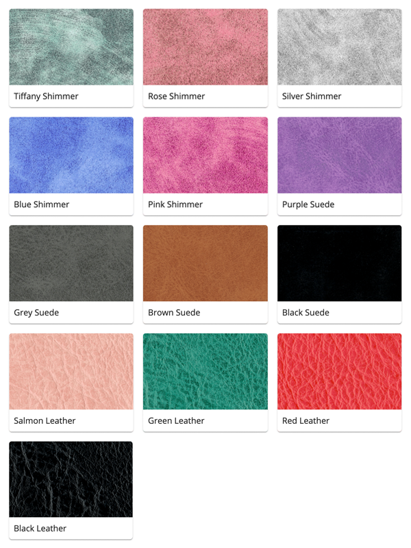 Material Swatches for each Leather style Mi-Pod Device