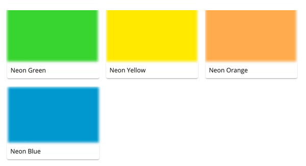 Material Swatches for each Neon Device for Mi-Pod Customsa
