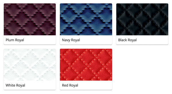 Material Swatches for each Royal style Mi-Pod Device
